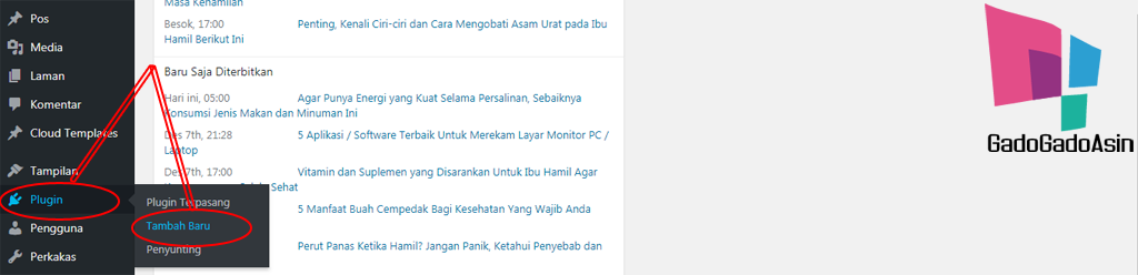 tambah plugin wordpress